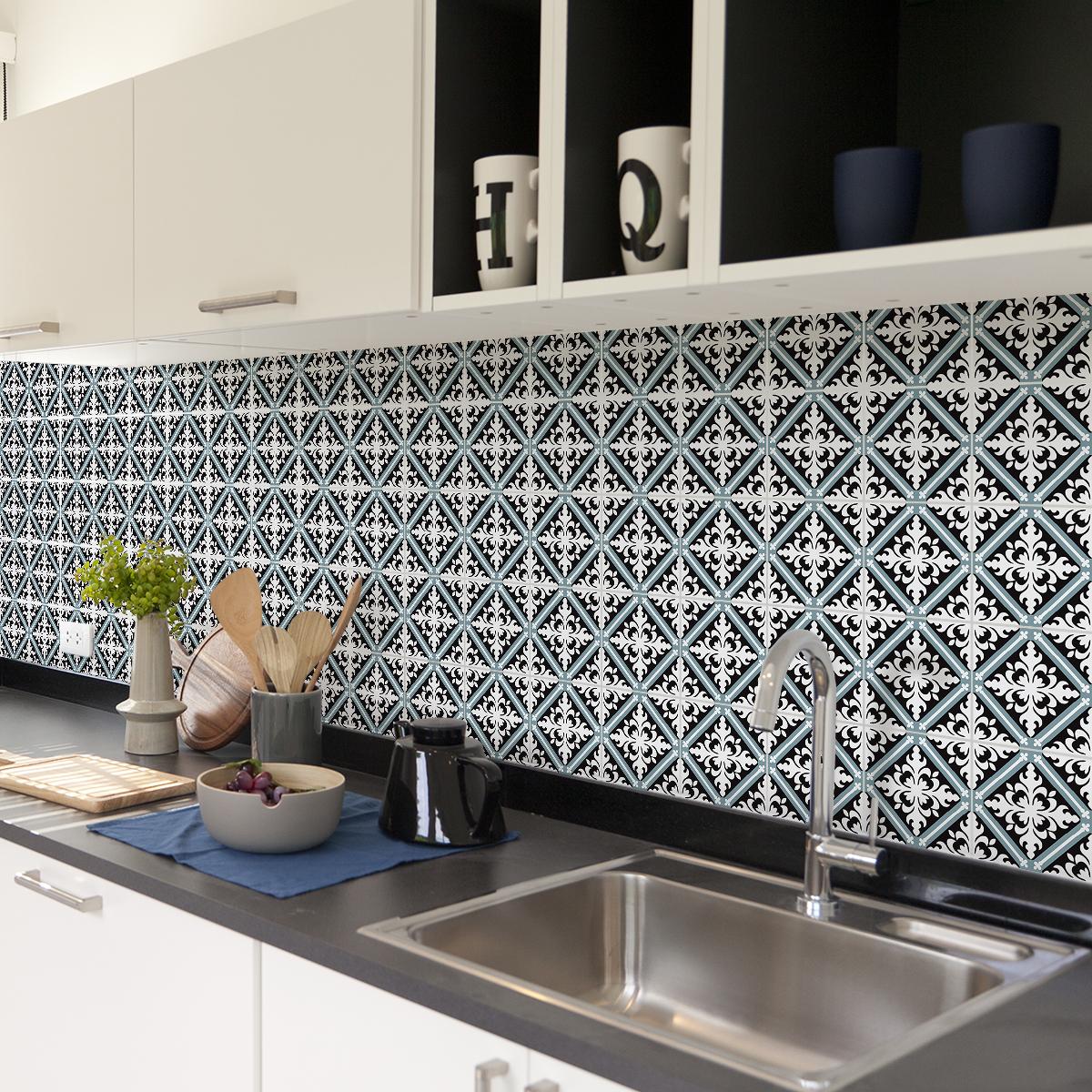 60 stickers carrelages azulejos emerencio cuisine - Stickers cuisine carrelage ...