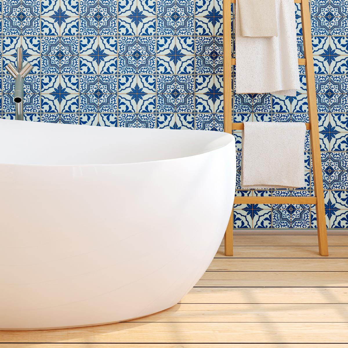 60 stickers carrelages azulejos facundo salle de bain et. Black Bedroom Furniture Sets. Home Design Ideas