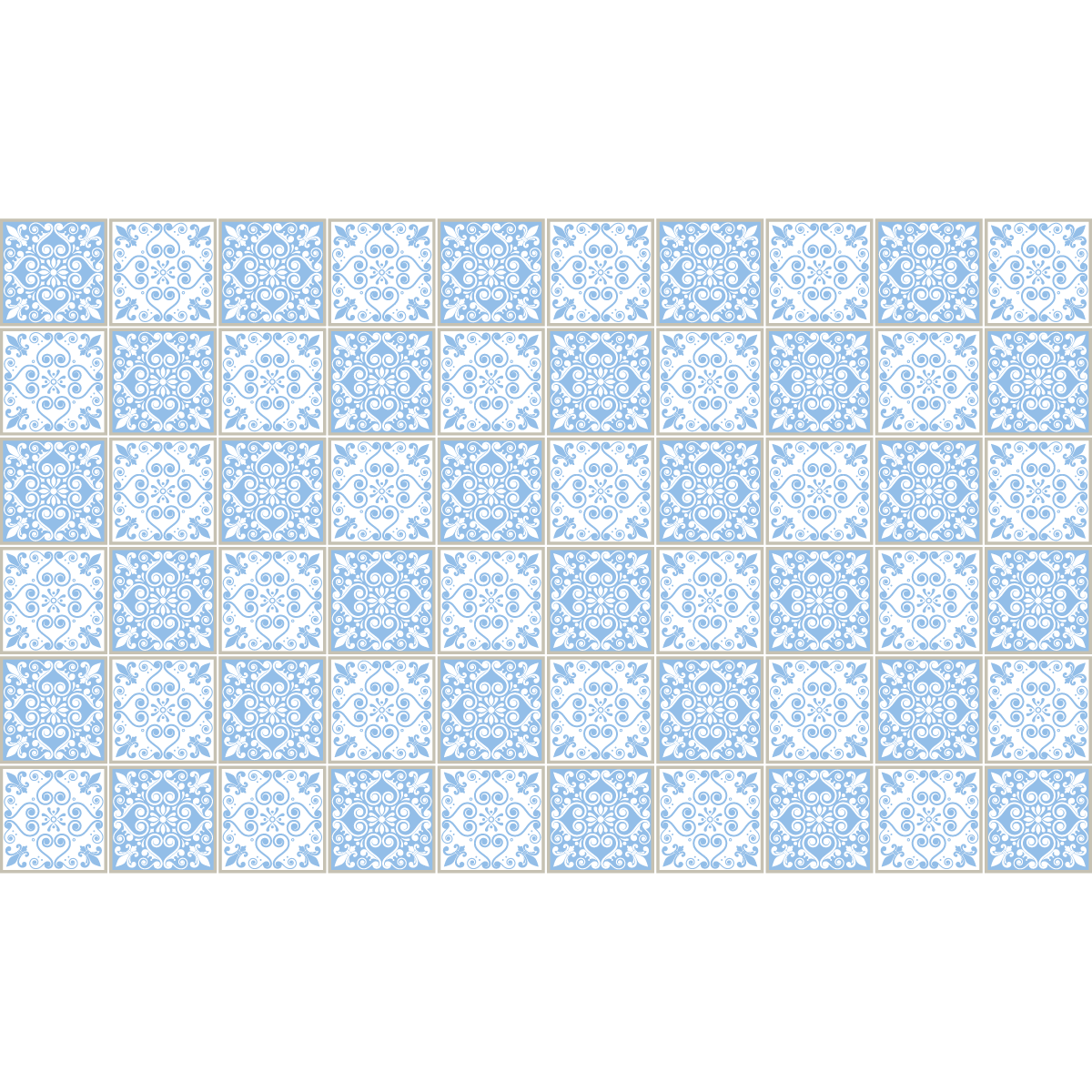 60 stickers carrelages azulejos gloria salle de bain et. Black Bedroom Furniture Sets. Home Design Ideas