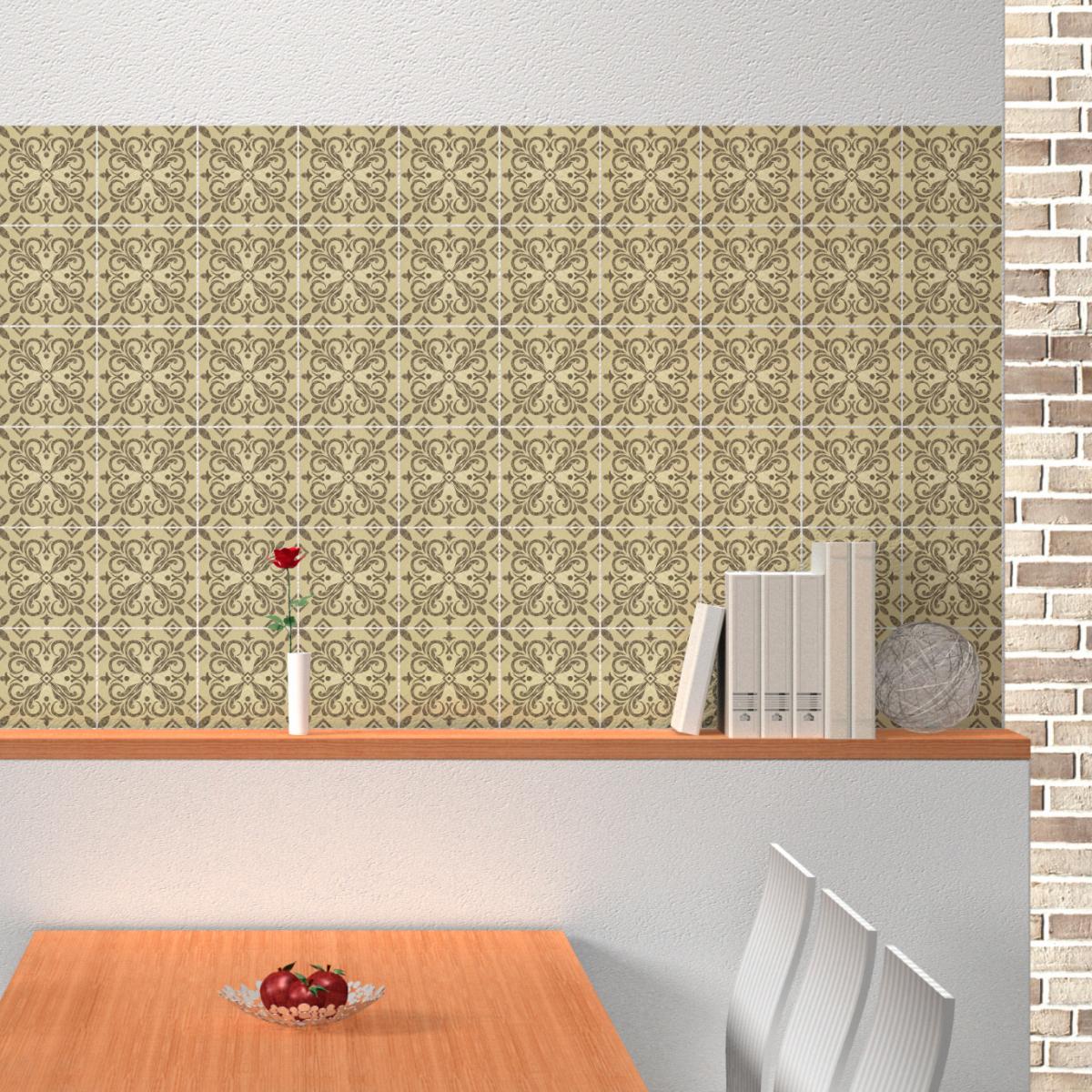 60 stickers carrelages azulejos jordano salle de bain et. Black Bedroom Furniture Sets. Home Design Ideas