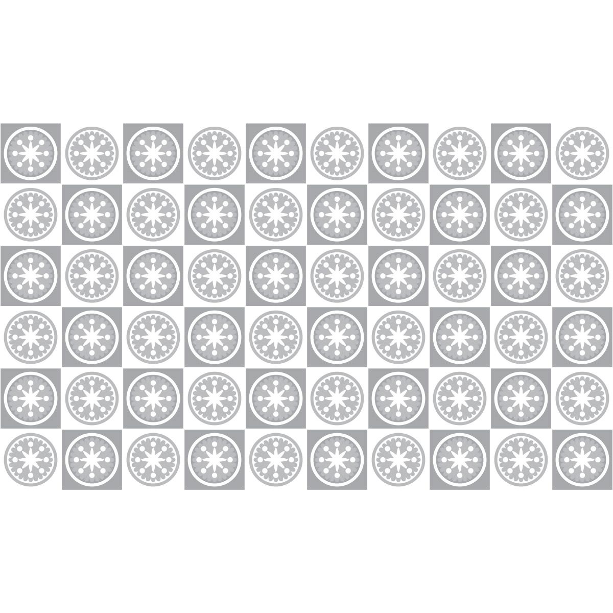 60 stickers carrelages azulejos nuance de gris atypiques. Black Bedroom Furniture Sets. Home Design Ideas