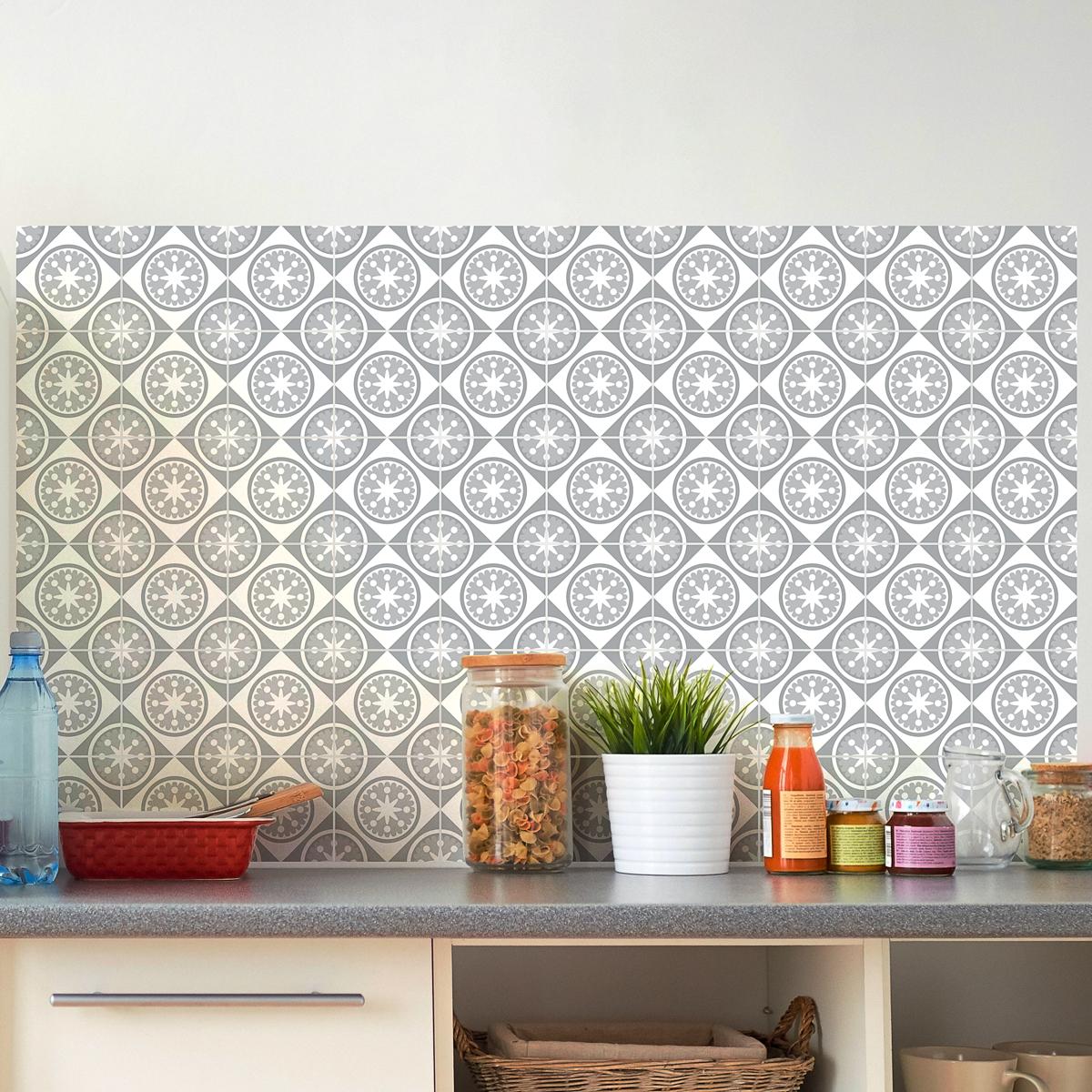 60 stickers carrelages azulejos nuance de gris radieux art et design artistiques ambiance. Black Bedroom Furniture Sets. Home Design Ideas