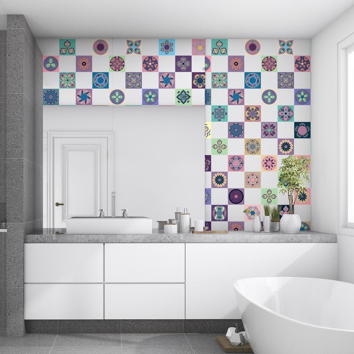 60 stickers carrelages azulejos palmira cuisine carrelages ambiance sticker. Black Bedroom Furniture Sets. Home Design Ideas