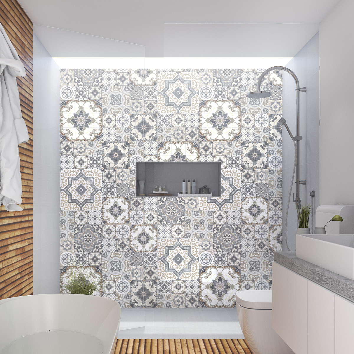 60 stickers carrelages azulejos ta ga cuisine carrelages ambiance sticker. Black Bedroom Furniture Sets. Home Design Ideas