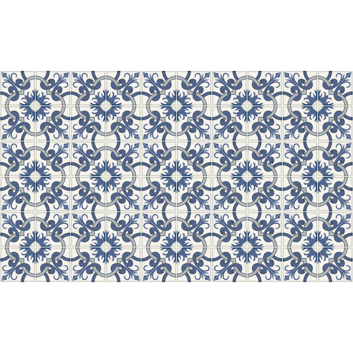 60 stickers carrelages azulejos tonio salle de bain et wc salle de bain ambiance sticker. Black Bedroom Furniture Sets. Home Design Ideas