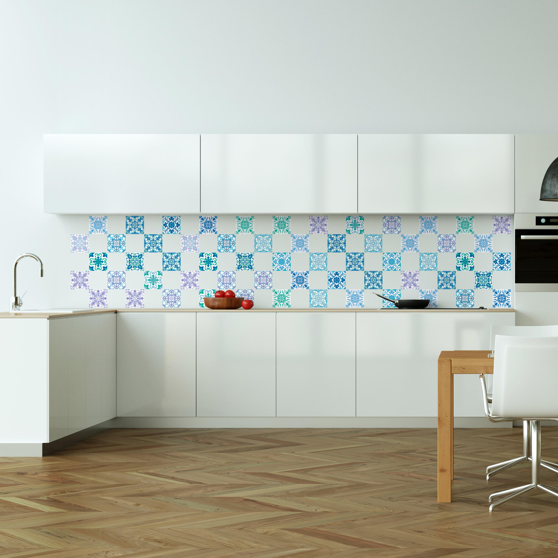 60 stickers carrelages azulejos vintage m diterran ens for Carrelage mural vintage