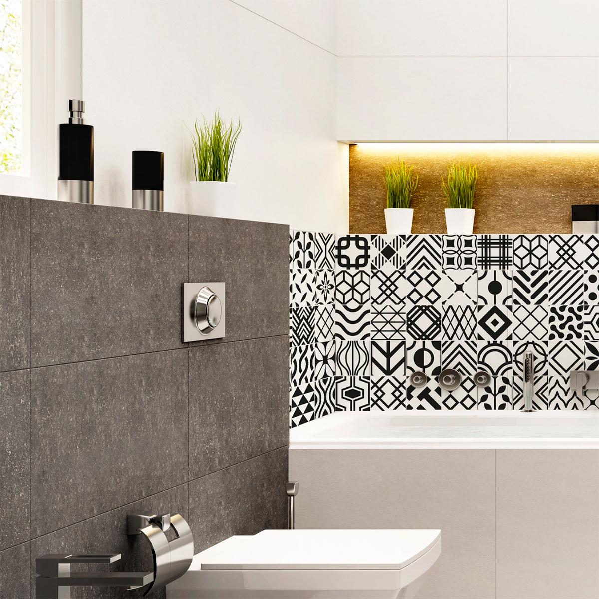 60 stickers carrelages scandinave danemark salle de bain et wc salle de bain ambiance sticker. Black Bedroom Furniture Sets. Home Design Ideas
