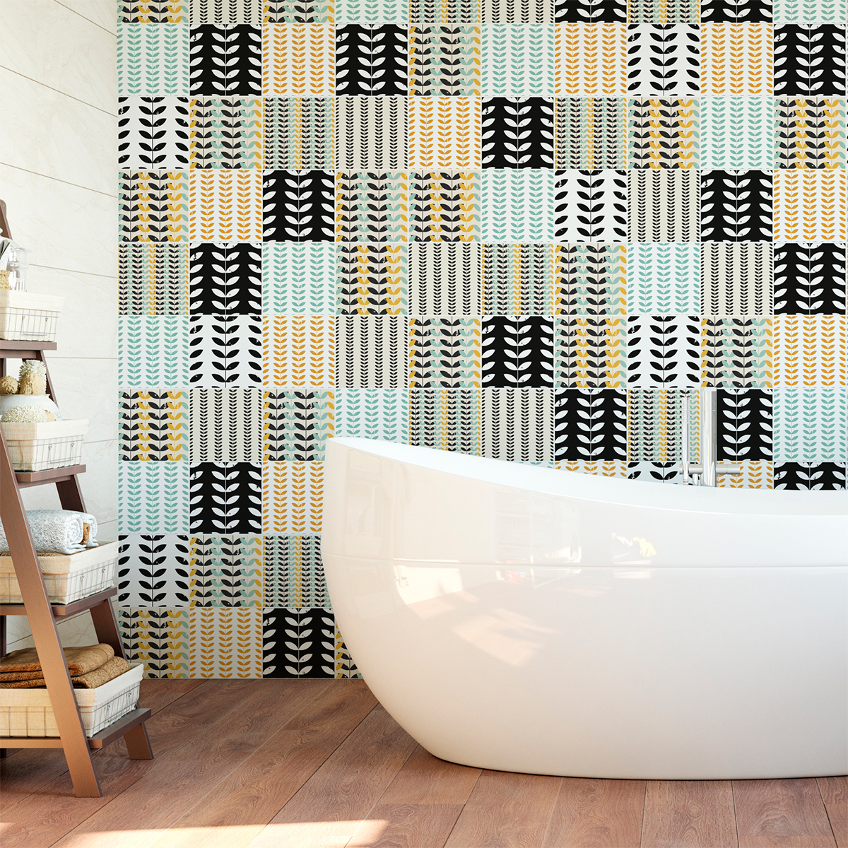60 stickers carrelages scandinave rikhard cuisine. Black Bedroom Furniture Sets. Home Design Ideas