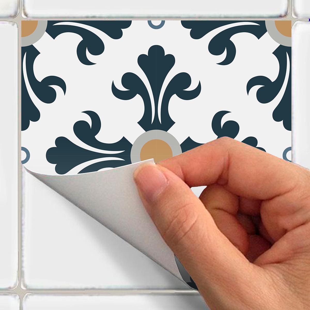 9 stickers carreaux de ciment azulejos cilia cuisine. Black Bedroom Furniture Sets. Home Design Ideas
