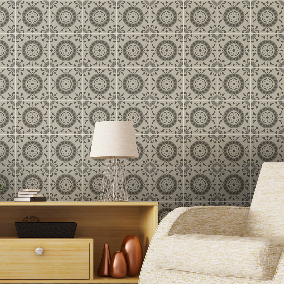 9 stickers carreaux de ciment azulejos ennea cuisine. Black Bedroom Furniture Sets. Home Design Ideas