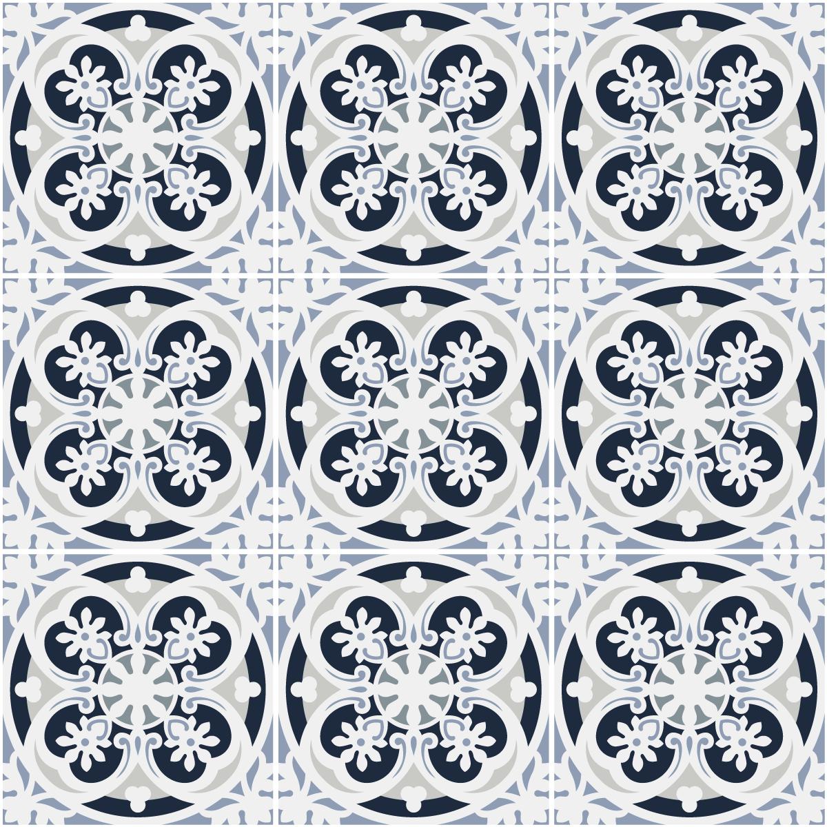 9 stickers carreaux de ciment azulejos giselda cuisine. Black Bedroom Furniture Sets. Home Design Ideas