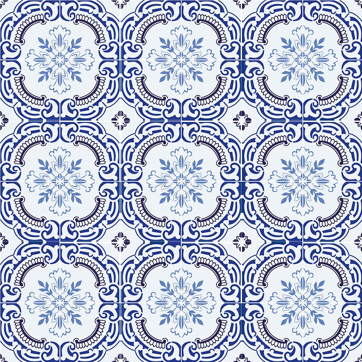 9 stickers carreaux de ciment azulejos jodi cuisine for Stickers carreaux de ciment 20x20