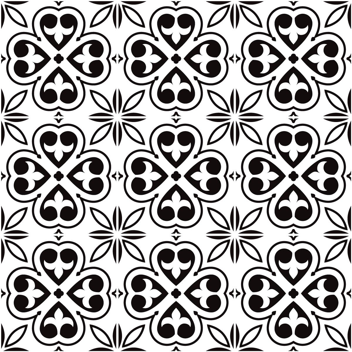 9 stickers carreaux de ciment azulejos kezia cuisine. Black Bedroom Furniture Sets. Home Design Ideas