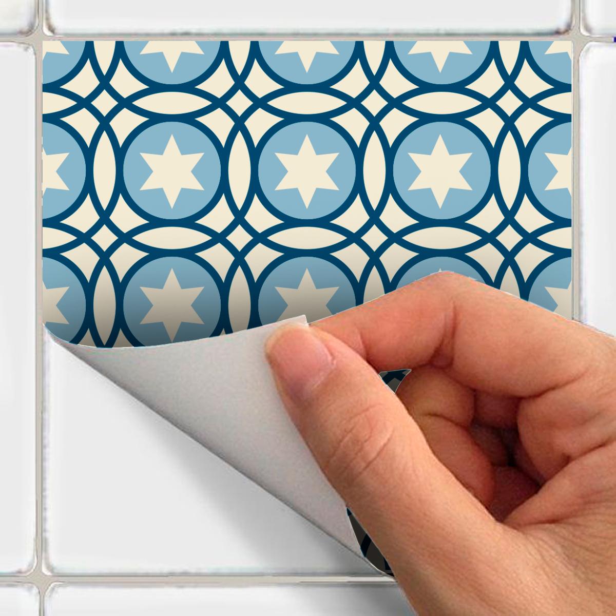 9 stickers carreaux de ciment azulejos luana cuisine. Black Bedroom Furniture Sets. Home Design Ideas