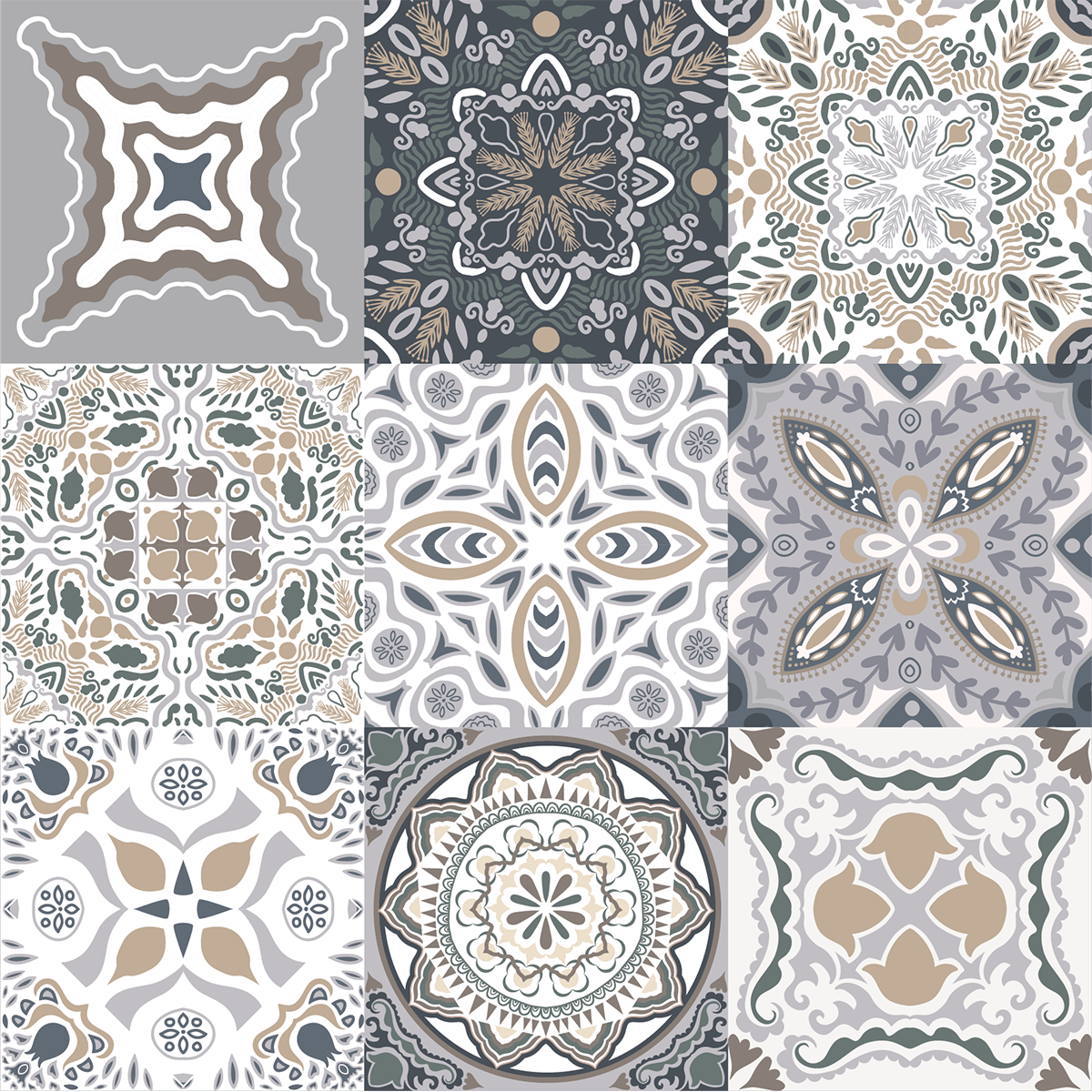 9 stickers carreaux de ciment azulejos orfeo cuisine. Black Bedroom Furniture Sets. Home Design Ideas