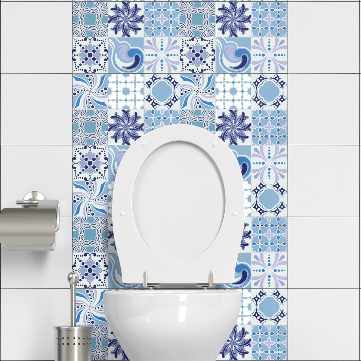 9 stickers carreaux de ciment capoeira salle de bain et wc salle de bain ambiance sticker. Black Bedroom Furniture Sets. Home Design Ideas