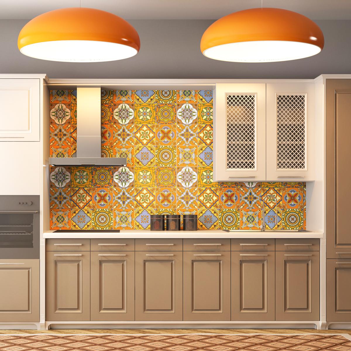 9 stickers carreaux de ciment de quito cuisine. Black Bedroom Furniture Sets. Home Design Ideas