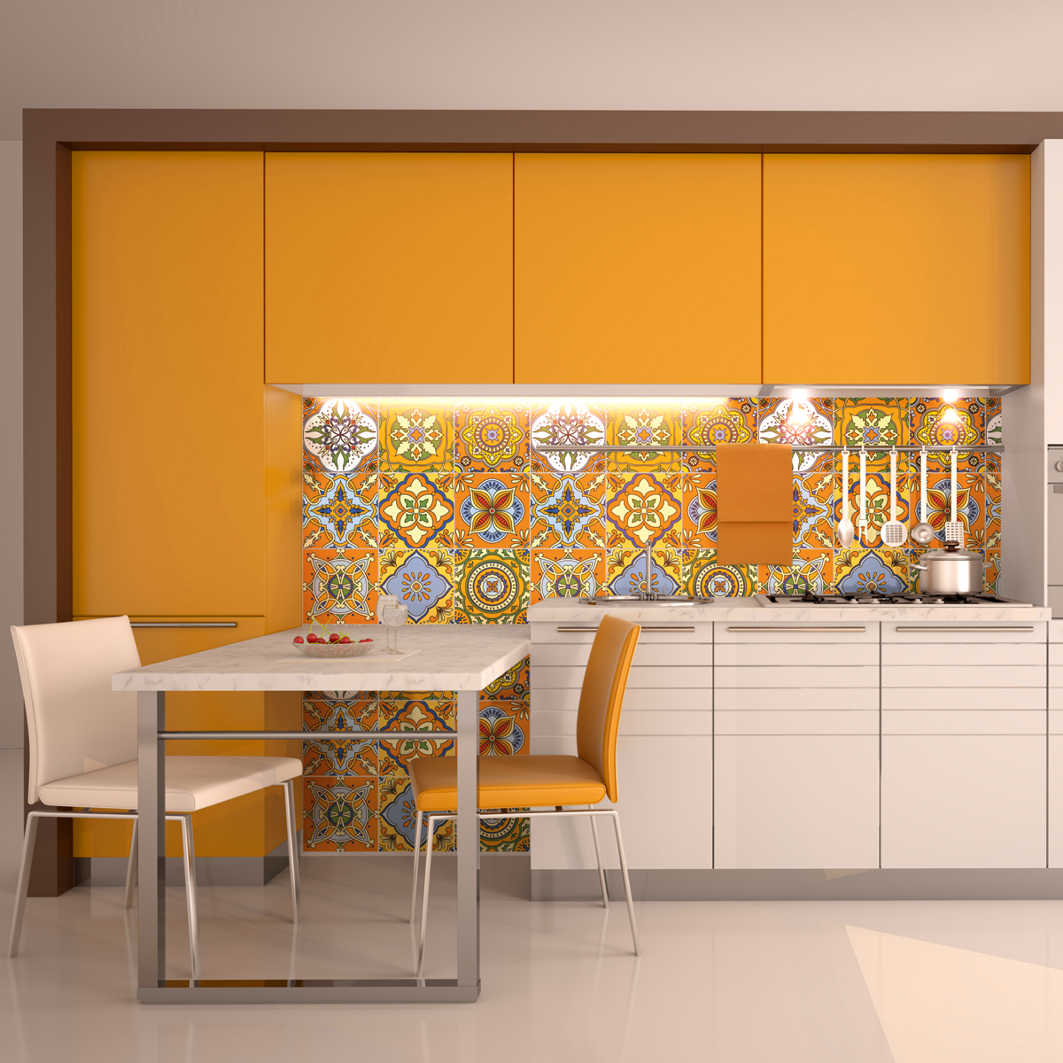 9 stickers carreaux de ciment de quito cuisine. Black Bedroom Furniture Sets. Home Design Ideas