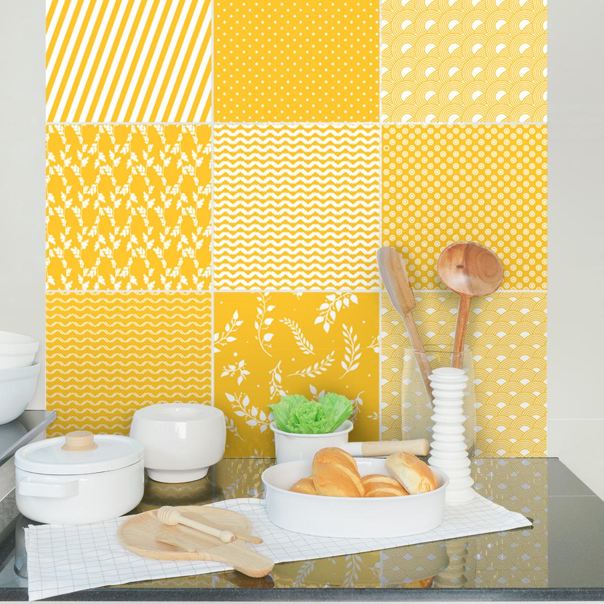9 stickers carreaux de ciment ethnique fukuoka cuisine. Black Bedroom Furniture Sets. Home Design Ideas