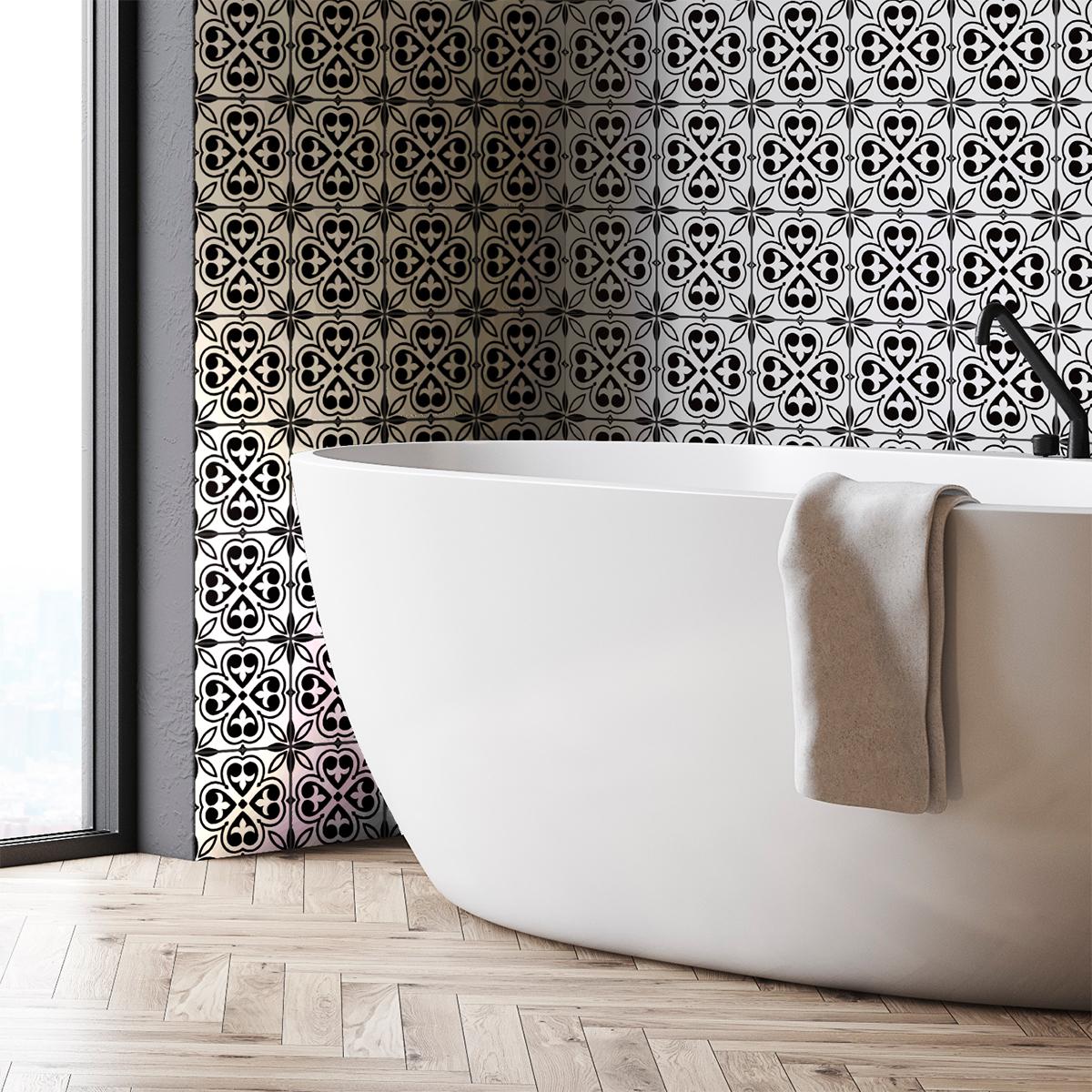 9 stickers carreaux de ciment ethnique kindu cuisine. Black Bedroom Furniture Sets. Home Design Ideas