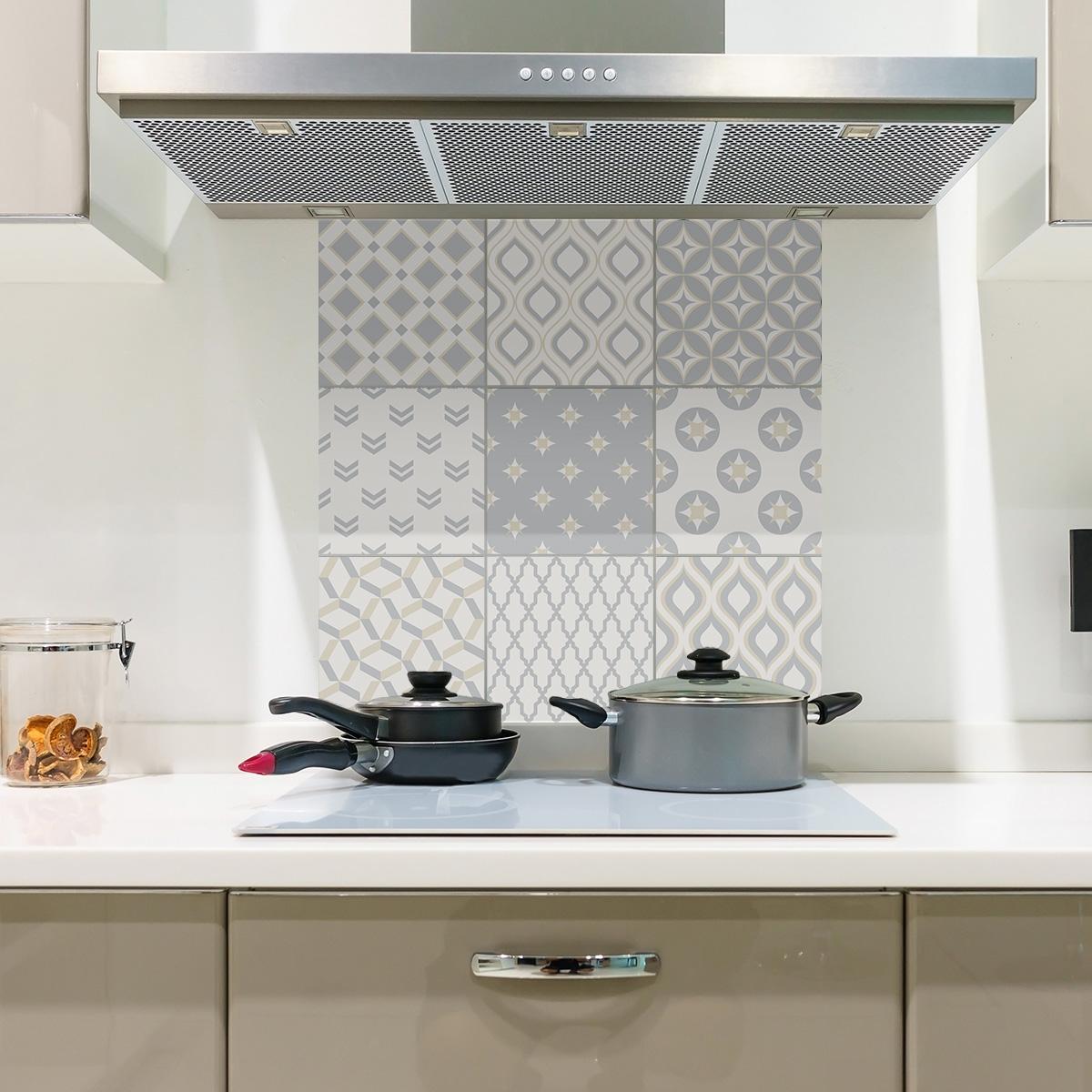 9 stickers carreaux de ciment ethnique nagasaki cuisine carrelages ambiance sticker. Black Bedroom Furniture Sets. Home Design Ideas
