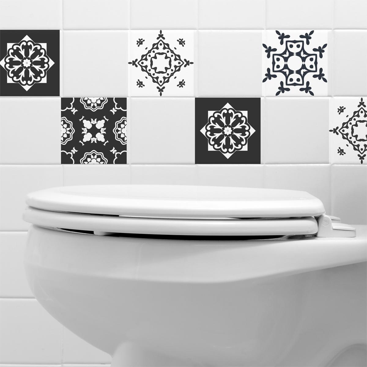 9 stickers carreaux de ciment ferrare cuisine carrelages ambiance sticker. Black Bedroom Furniture Sets. Home Design Ideas