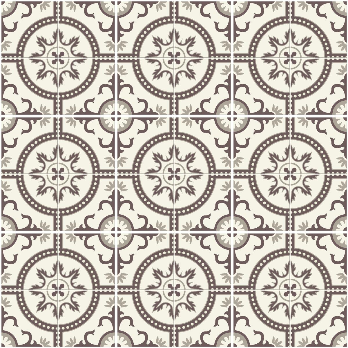9 stickers carreaux de ciment monza cuisine carrelages ambiance sticker - Stickers muraux carreaux de ciment ...