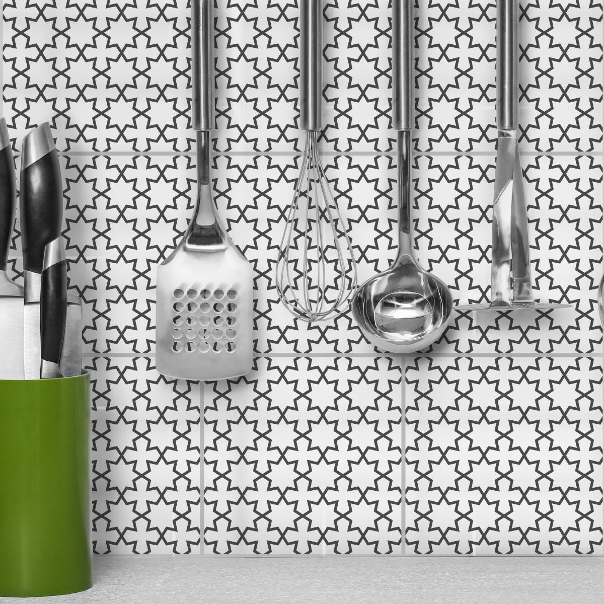 9 stickers carreaux de ciment oriental ariana cuisine. Black Bedroom Furniture Sets. Home Design Ideas
