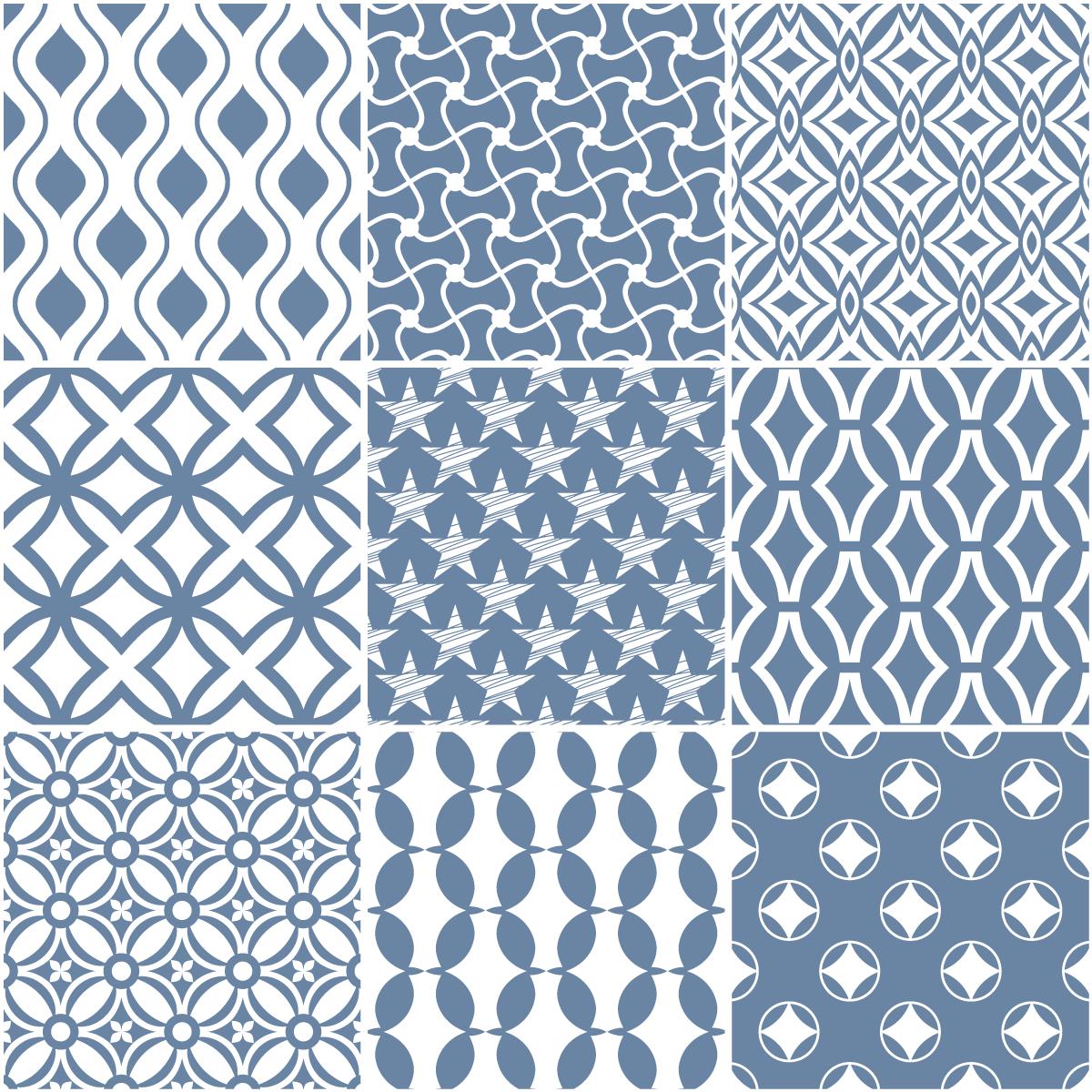 9 stickers carreaux de ciment scandinave anika cuisine. Black Bedroom Furniture Sets. Home Design Ideas