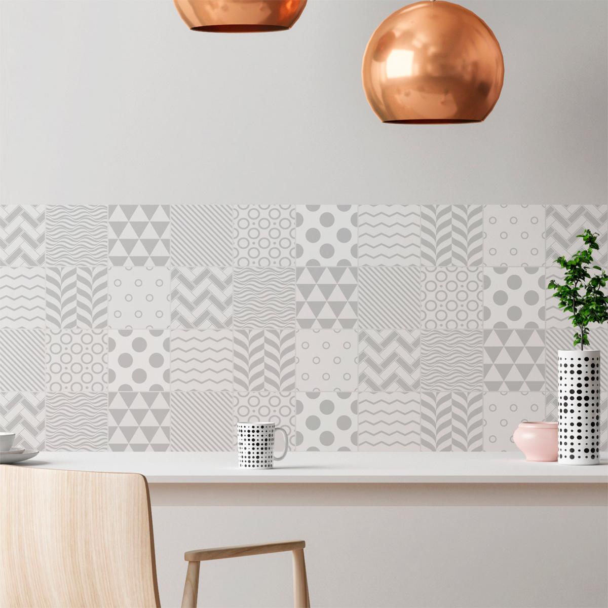 stickers carrelage carreaux de ciment stickers pour salle. Black Bedroom Furniture Sets. Home Design Ideas