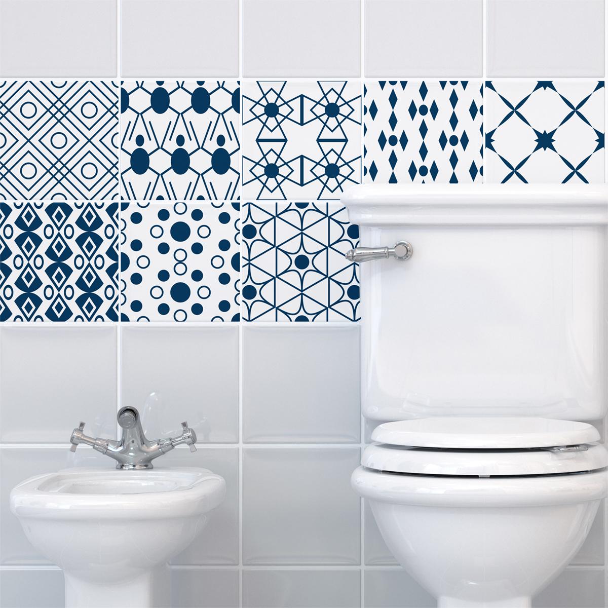 9 stickers carreaux de ciment scandinave latham salle de bain et wc salle de bain ambiance. Black Bedroom Furniture Sets. Home Design Ideas