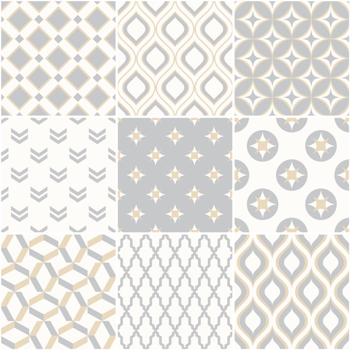 9 stickers carreaux de ciment scandinave samtida salle de bain et wc salle de bain ambiance - Motif scandinave a imprimer ...