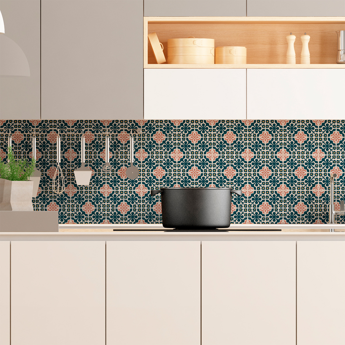 Stickers Carrelage Cuisine: 9 Stickers Carrelages Azulejos Acantha