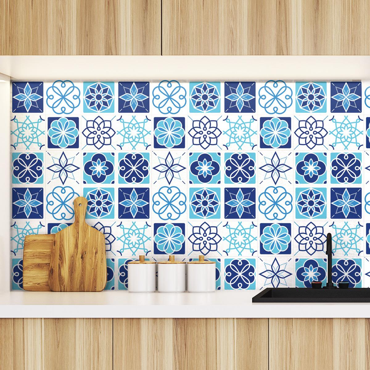 9 stickers carrelages azulejos amasra cuisine carrelages - Stickers cuisine carrelage ...
