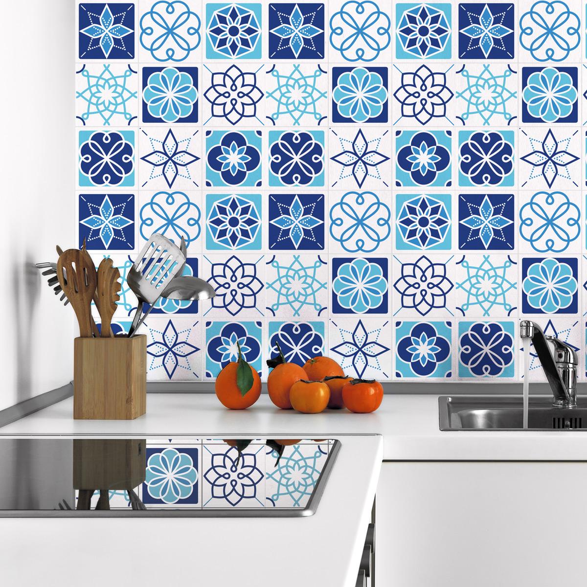 9 stickers carrelages azulejos amasra cuisine carrelages ambiance sticker. Black Bedroom Furniture Sets. Home Design Ideas