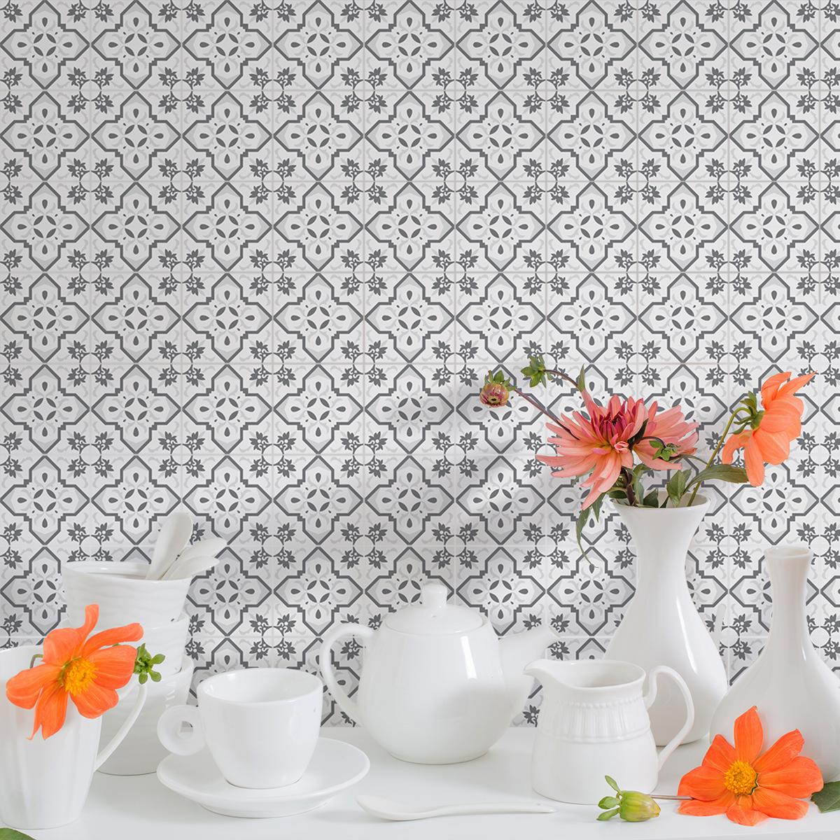 9 stickers carrelages azulejos ancelina cuisine. Black Bedroom Furniture Sets. Home Design Ideas