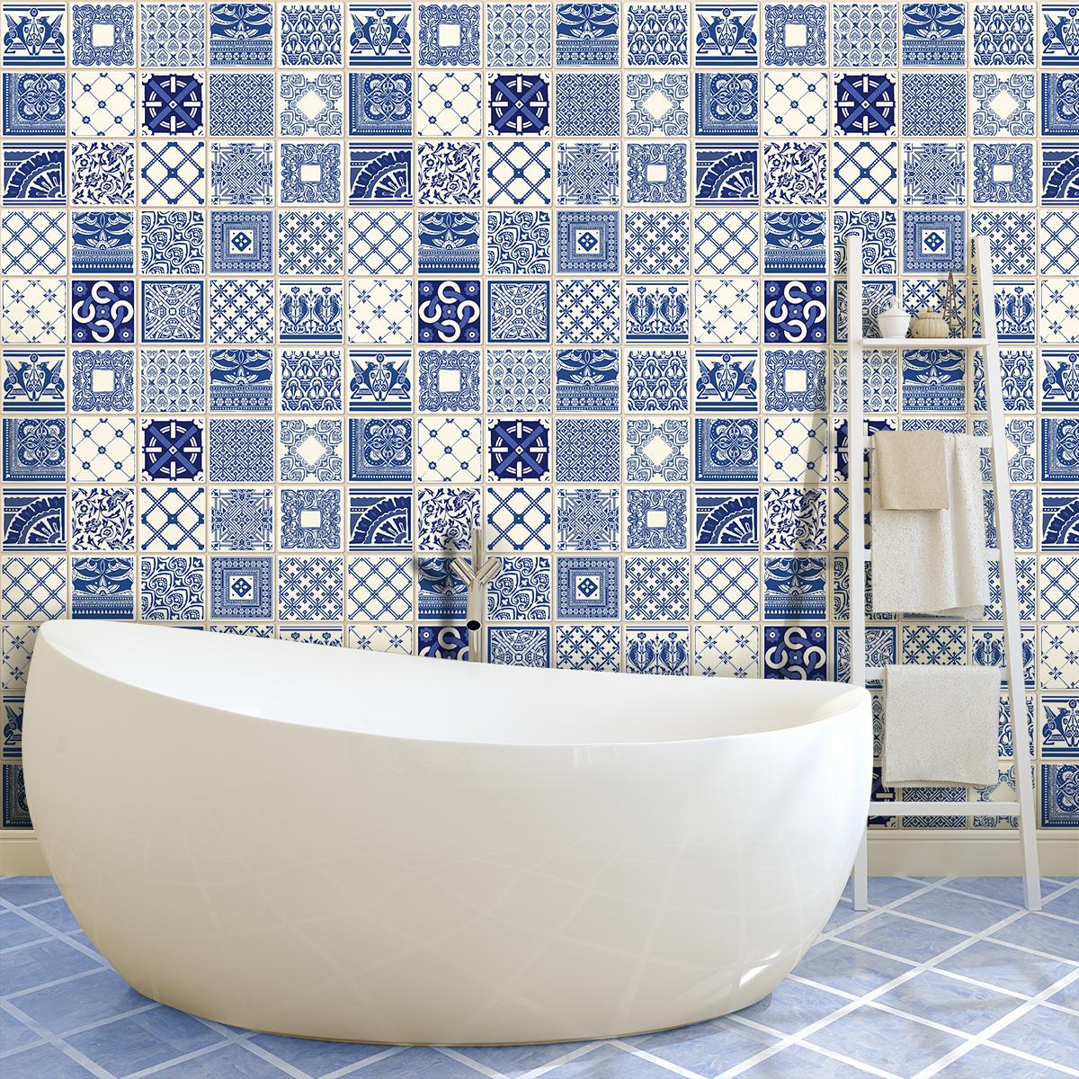 9 stickers carrelages azulejos bartolomeo cuisine carrelages ambiance sticker. Black Bedroom Furniture Sets. Home Design Ideas