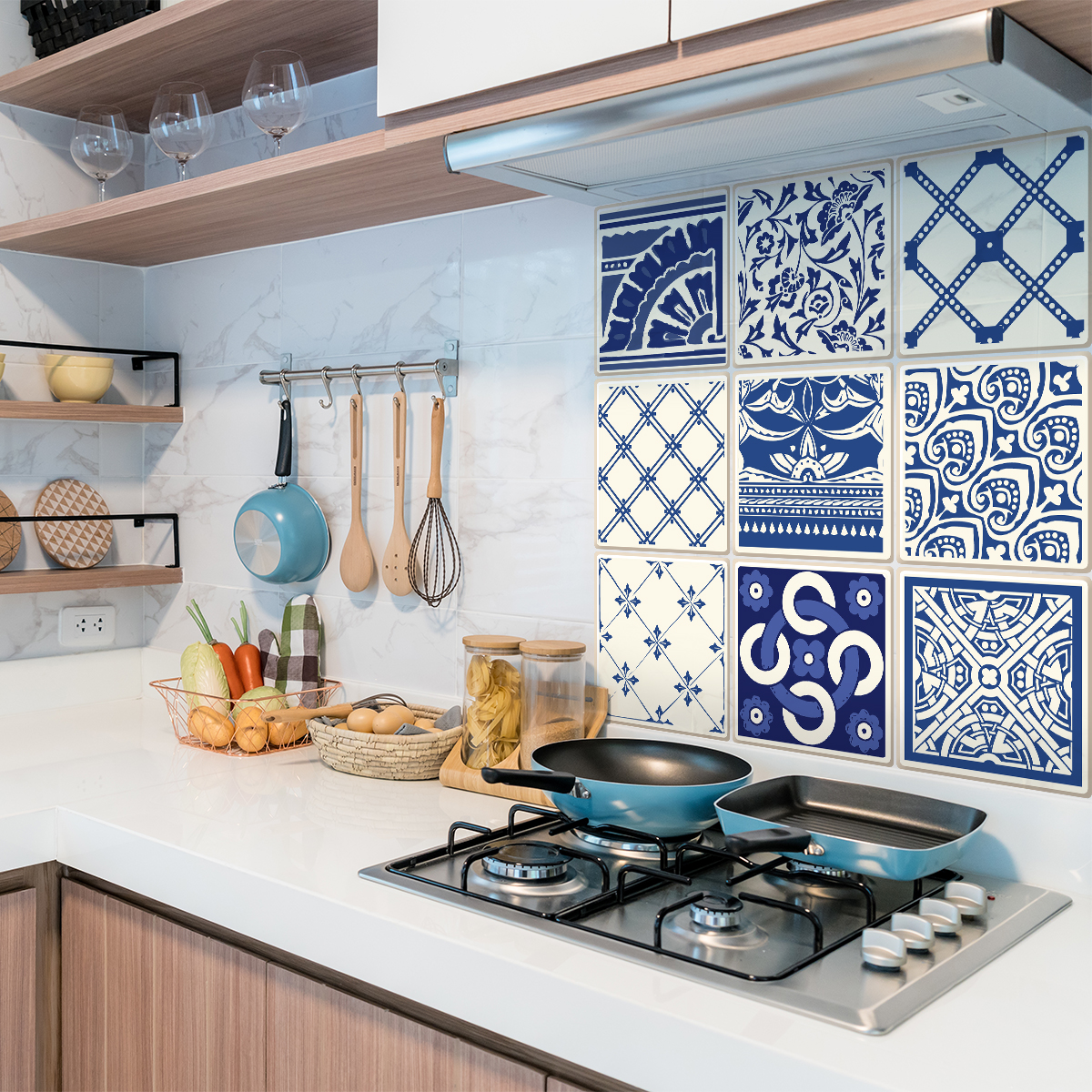 9 stickers carrelages azulejos bartolomeo cuisine carrelages ambiance sticker - Stickers cuisine carrelage ...