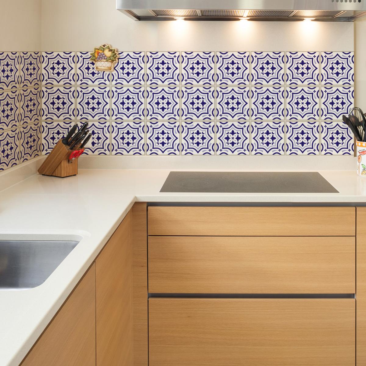 9 stickers carrelages azulejos beata salle de bain et wc salle de bain ambiance sticker. Black Bedroom Furniture Sets. Home Design Ideas