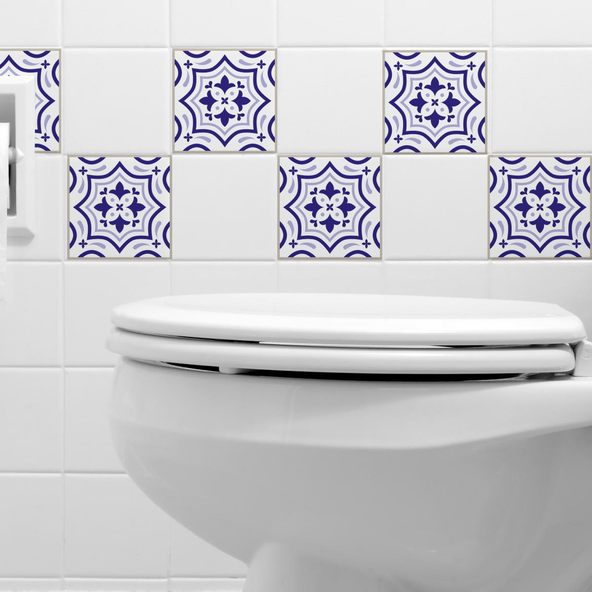 9 stickers carrelages azulejos beata salle de bain et wc. Black Bedroom Furniture Sets. Home Design Ideas