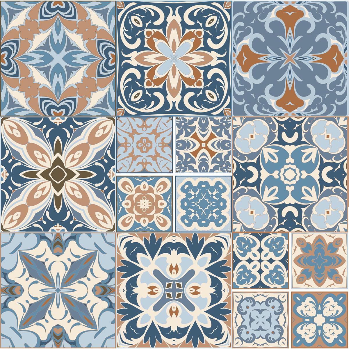 9 stickers carrelages azulejos benito cuisine carrelages for Stickers carrelage 20x20