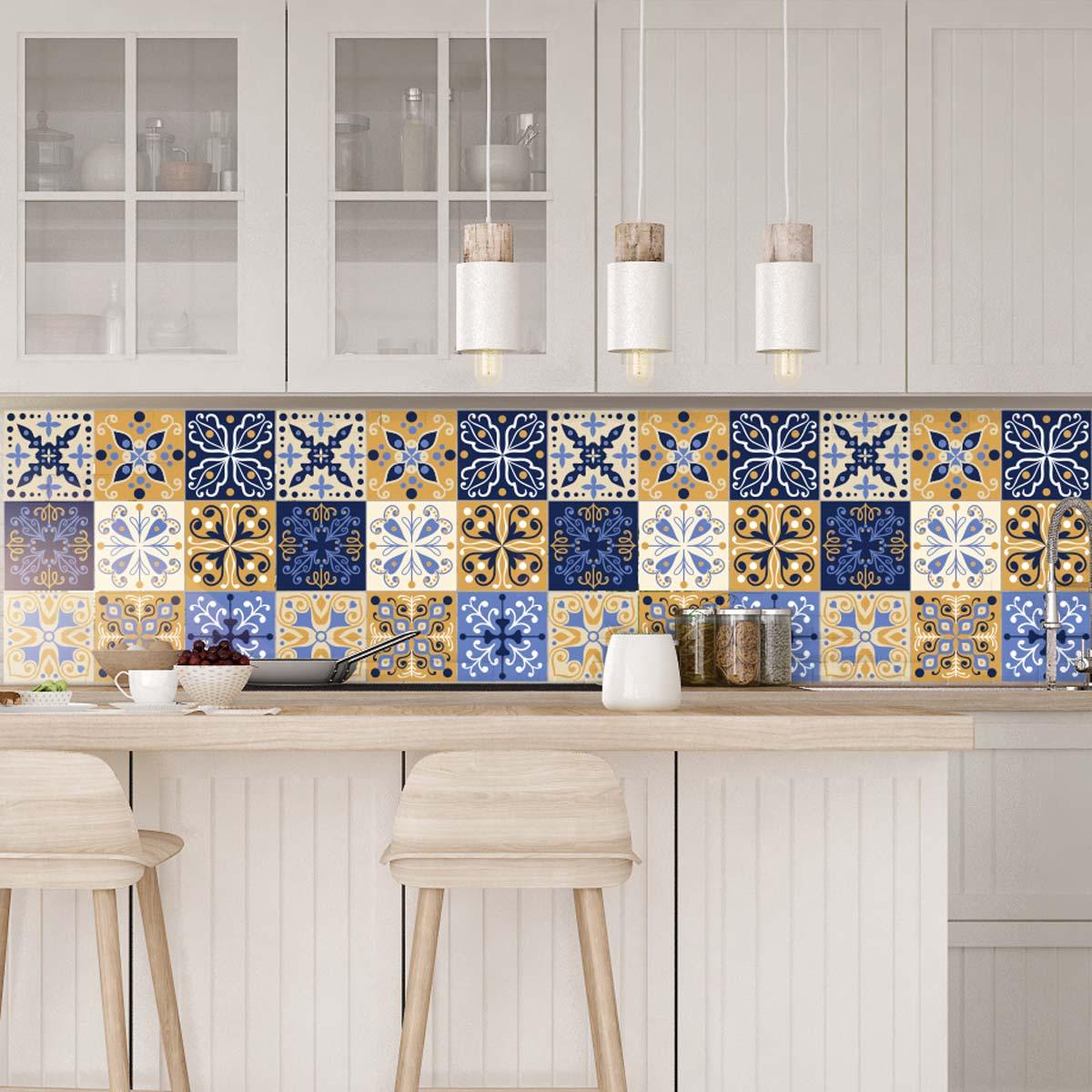 9 stickers carrelages azulejos born o art et design artistiques ambiance sticker. Black Bedroom Furniture Sets. Home Design Ideas