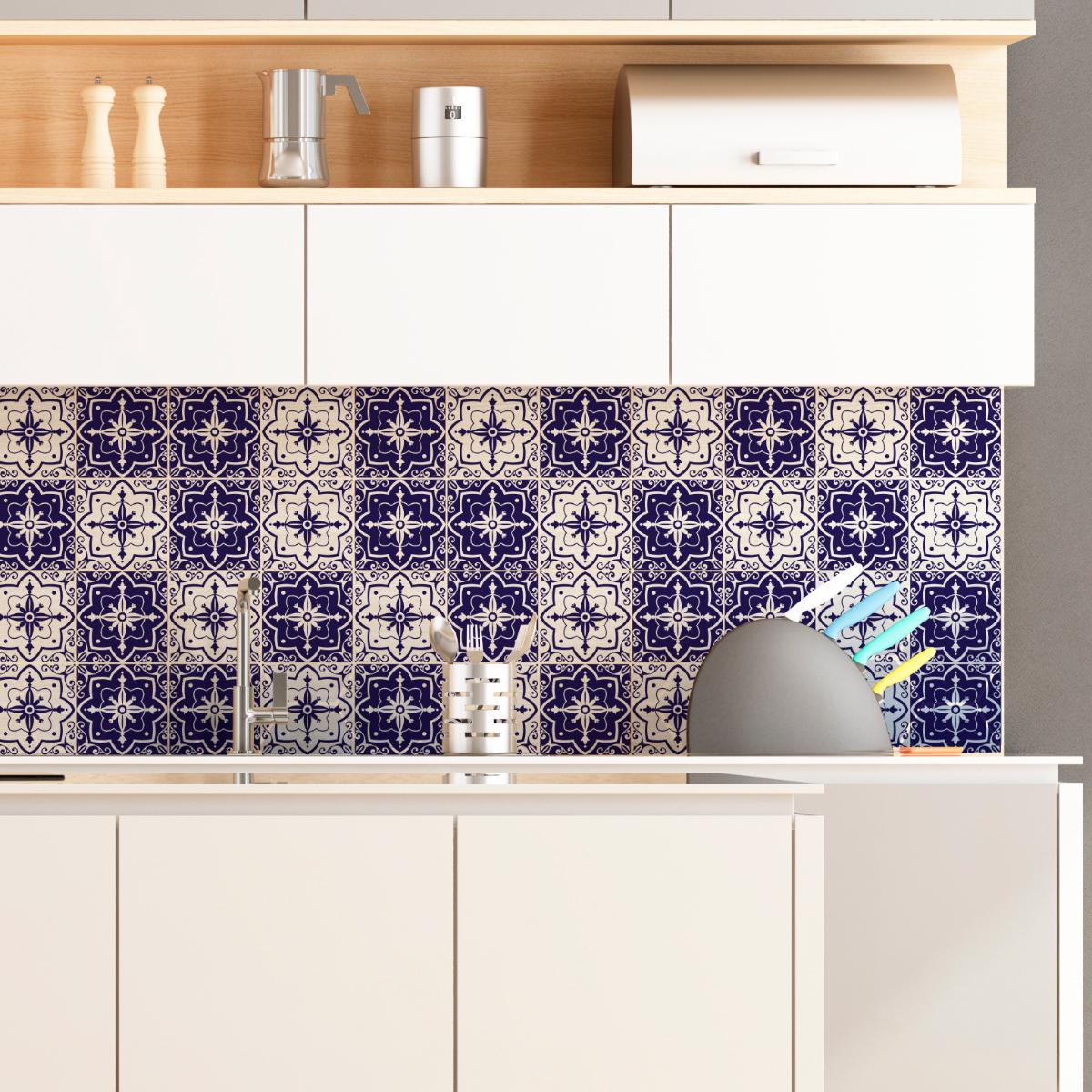 9 stickers carrelages azulejos carlota salle de bain et. Black Bedroom Furniture Sets. Home Design Ideas