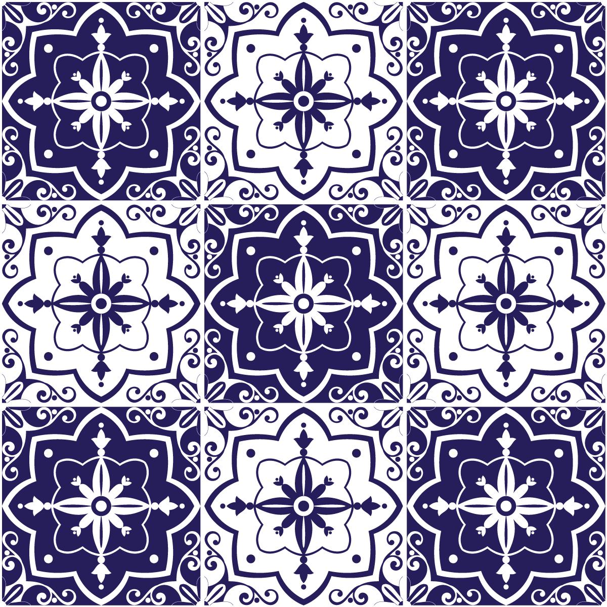9 stickers carrelages azulejos carlota salle de bain et wc salle de bain ambiance sticker. Black Bedroom Furniture Sets. Home Design Ideas