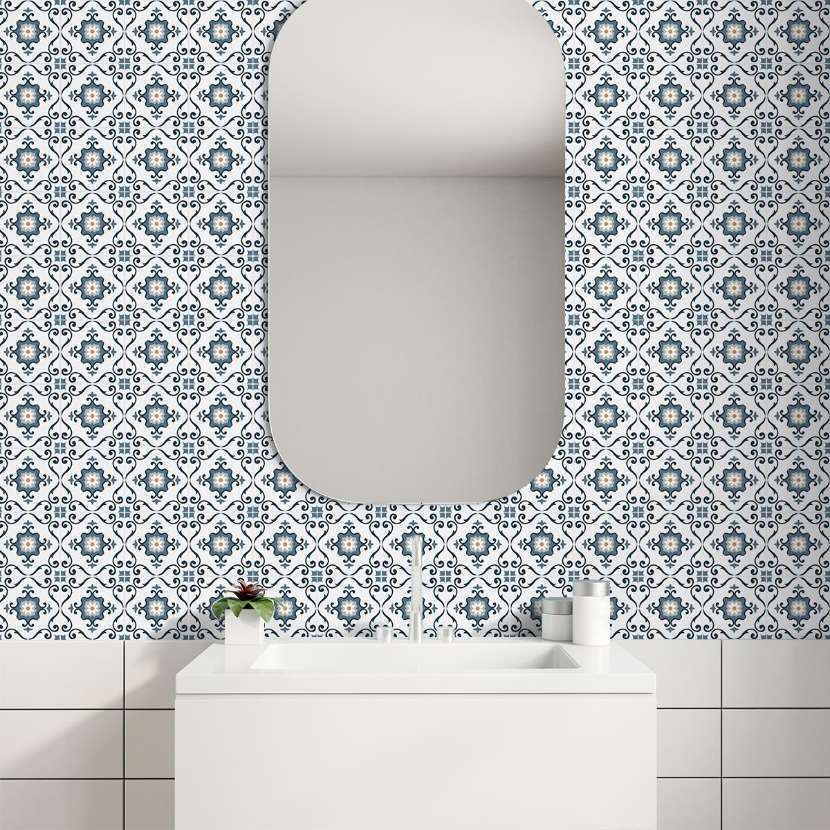 9 stickers carrelages azulejos clarita cuisine. Black Bedroom Furniture Sets. Home Design Ideas