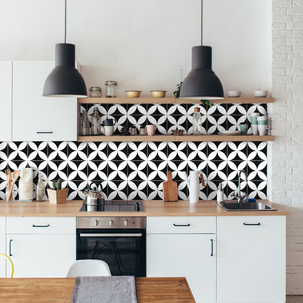 9 stickers carrelages azulejos enzo cuisine carrelages ambiance sticker. Black Bedroom Furniture Sets. Home Design Ideas