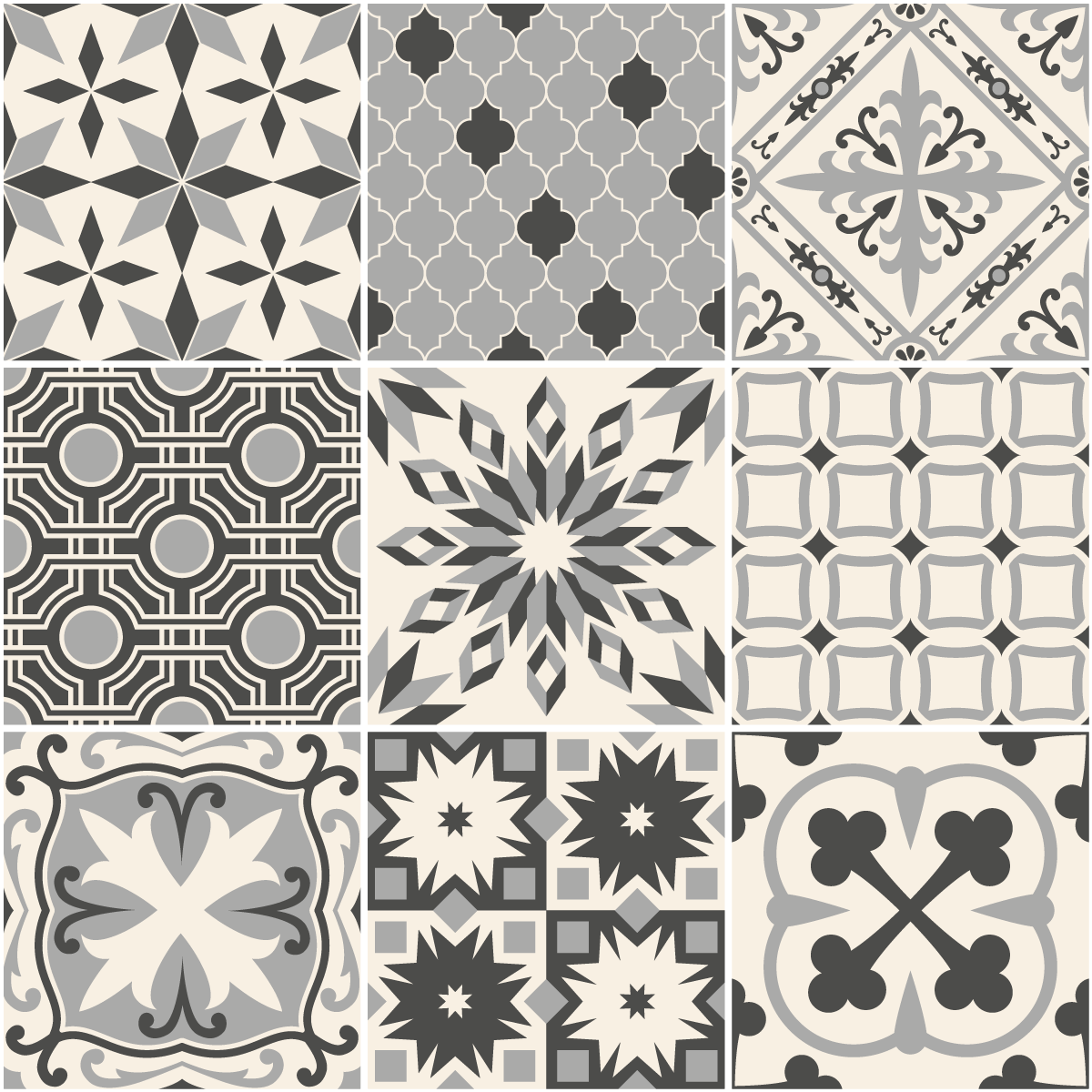 9 stickers carrelages azulejos ivoa cuisine carrelages ambiance sticker. Black Bedroom Furniture Sets. Home Design Ideas