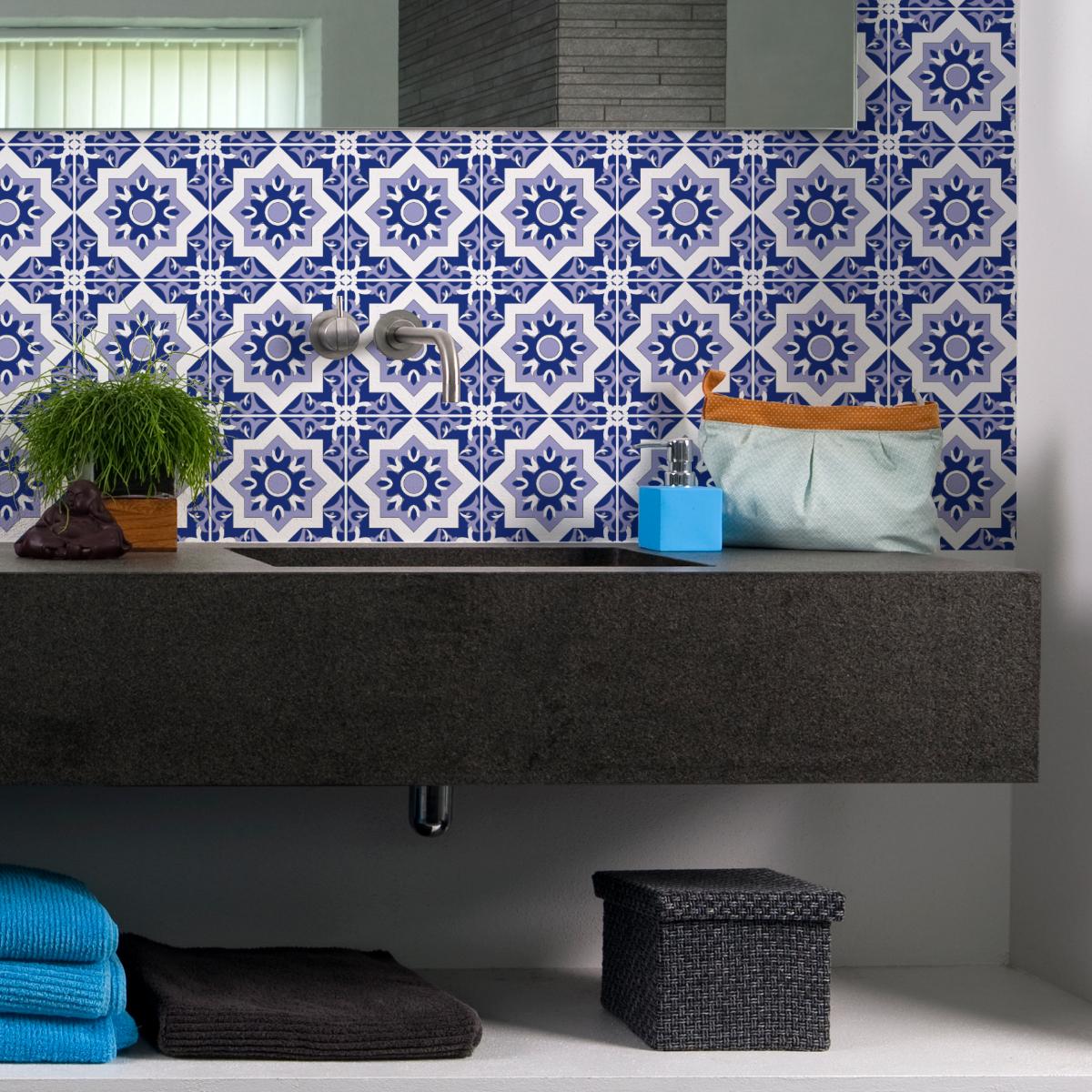 9 stickers carrelages azulejos lupita salle de bain et. Black Bedroom Furniture Sets. Home Design Ideas