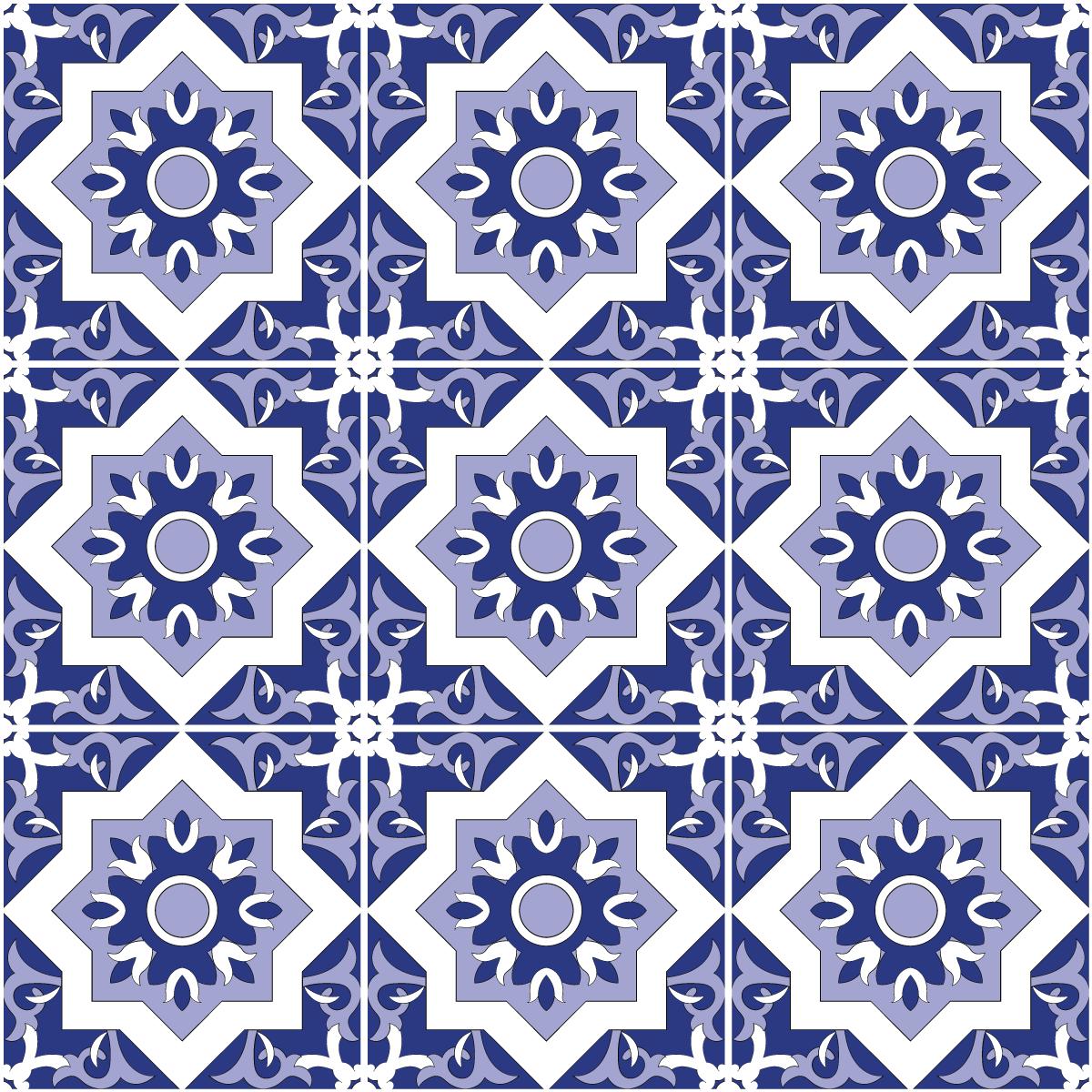 9 stickers carrelages azulejos lupita salle de bain et wc salle de bain ambiance sticker. Black Bedroom Furniture Sets. Home Design Ideas
