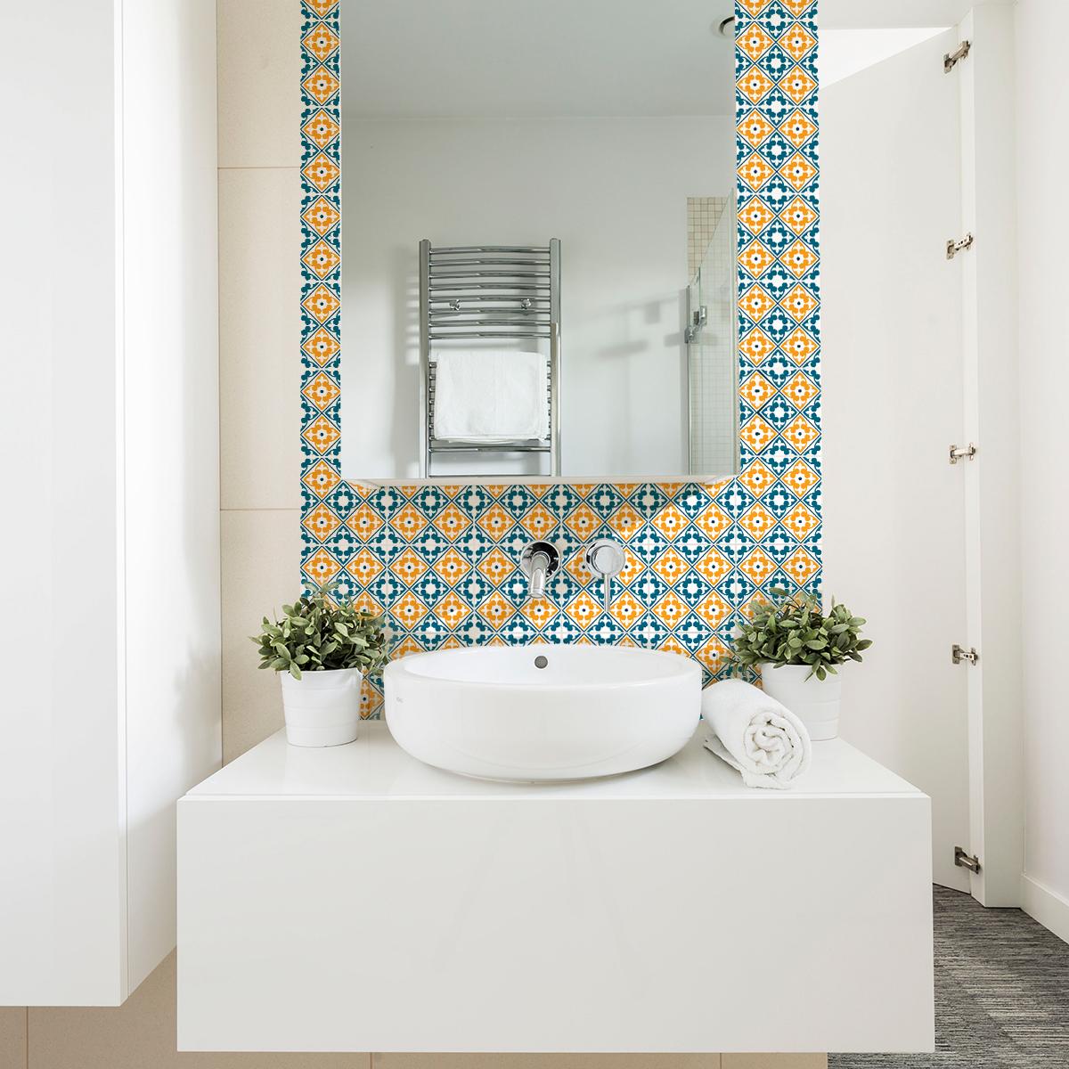 9 stickers carrelages azulejos magdalena cuisine - Stickers cuisine carrelage ...